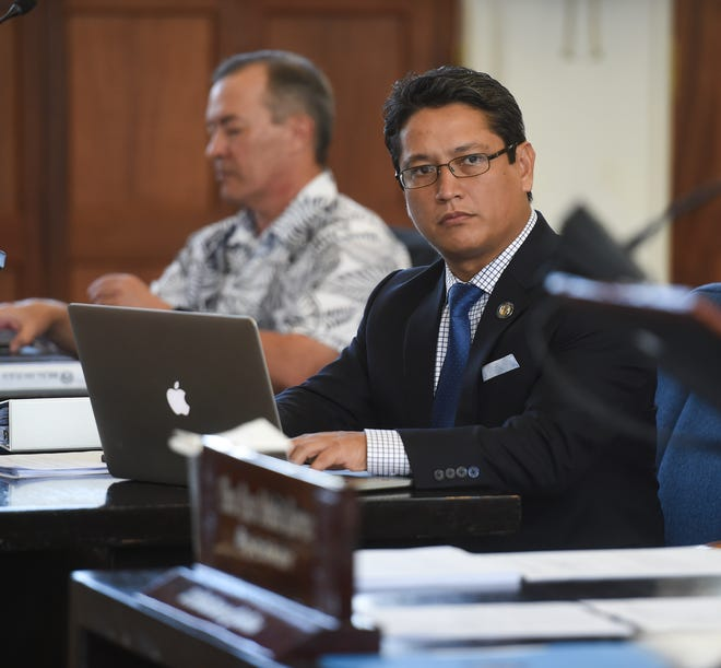 Sen. Wil Castro during a session at the Guam Congress Building in Hagåtña, Oct. 1, 2019.