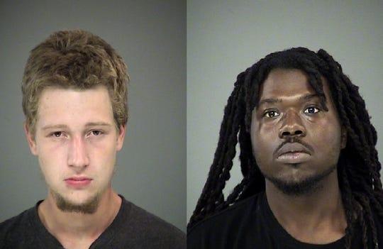 David Lucas, 20, left, and Rashaan Wilson, 22