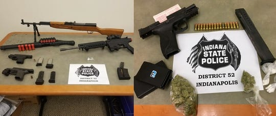 Drugs and guns found during a pair of traffic stops