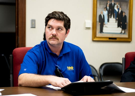Jackson City Councilman Russ McKelvey during an agenda review meeting at city hall.