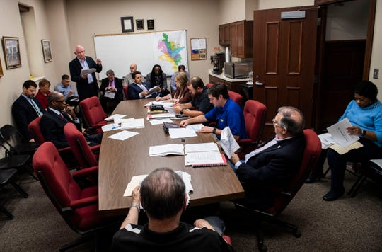The Jackson City Council meets for an agenda review before a council meeting Sept. 26, 2019.
