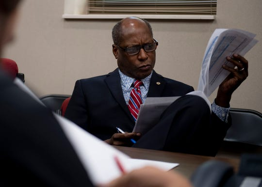 Jackson City Councilman Ernest Brooks during an agenda review meeting at city hall.