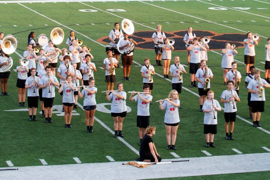Central High School band performing at the Knox County Band Exhibition at Powell High School on Monday, September 30, 2019.