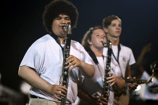 Carter High School band performing at the Knox County Band Exhibition at Powell High School on Monday, September 30, 2019.