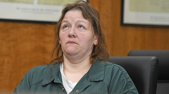 Jennifer Sweat pleaded guilty Tuesday to involuntary manslaughter and abduction on charges related to the starvation death of her mother, and was sentenced to 14 years in prison.