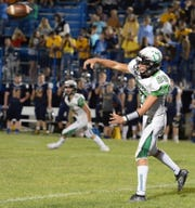 Clear Fork's Brennan South launches a pass during a game at River Valley last week.