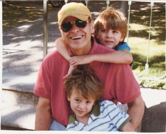 A family snapshot of writer Tim O'Brien and his sons Tad and Timmy