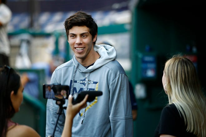Christian Yelich had an MVP-caliber season on the field for the Brewers in 2019. And also on Twitter.