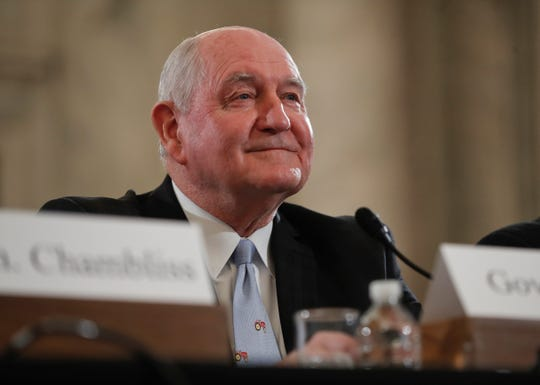 Agriculture Secretary Sonny Perdue, shown during his Senate confirmation hearing  on Monday, April 24, 2017.