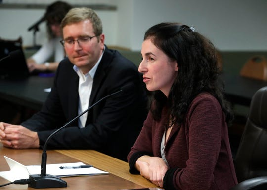 Raisa Koltun, chief of staff to Milwaukee County Executive Chris Abele, appeared  during a brief presentation of the 2020 budget to the Milwaukee County Board on Tuesday. Abele was ill and unable to make the annual budget address to the County Board of Supervisors.