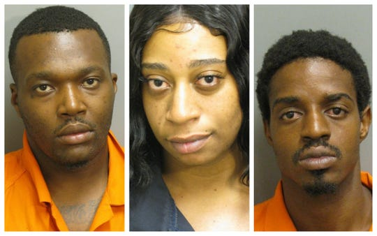 Deandre Crumpton, Kamya Collins and Benny Lee Russell were each charged with first-degree obbery and third-degree theft.