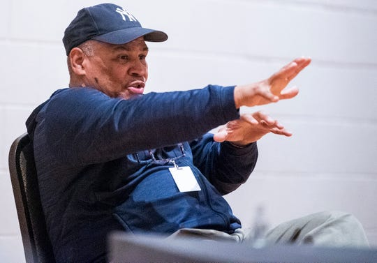 Director Ron OJ Parson during rehearsal for the production of PIPELINE at the Alabama Shakespeare Festival in Montgomery, Ala., on Monday October 1, 2019.