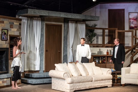 "A scene from Neil Simon's ""Rumors,"" which opens Thursday at the Cloverdale Playhouse."