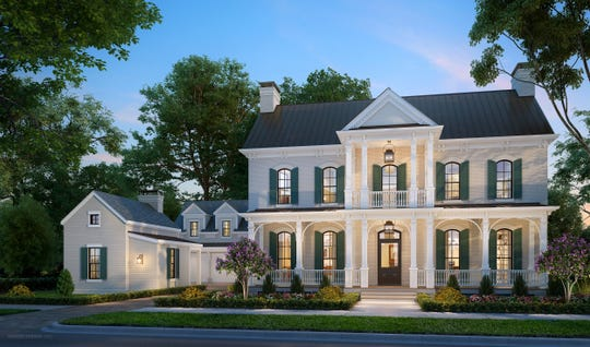 Oakland Hall by Hatcliff Construction is a four-bedroom, four-and-a-half bath, three story reimagining of the historic Grassmere estate on the grounds of the Nashville Zoo.