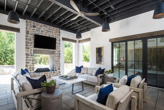 Trace Construction's house has comfortable outdoor living areas perfect for quiet mornings or entertaining guests.