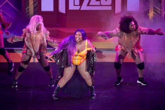 Lizzo performs at the Ryman Auditorium in Nashville, Tenn., Monday, Sept. 30, 2019.