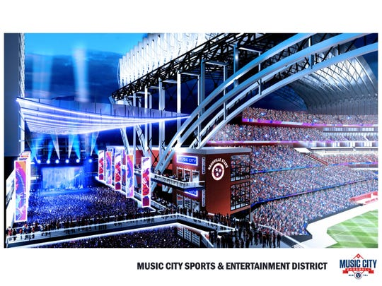 Music City MLB released renderings of a proposed sports-entertainment complex to bring Major League Baseball to Nashville.