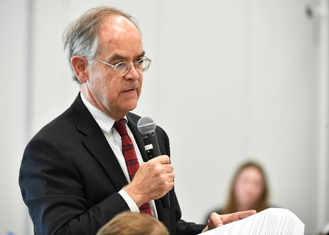 Rep. Jim Cooper speaks at a public hearing Tuesday, Oct. 1, 2019, in Nashville, Tenn., on Tennessee's request for block grant funding for Medicaid. If Tennessee successfully negotiates with the federal government an overhaul of its Medicaid program to receive funding through a block grant, it could become the first state in the nation to do so.