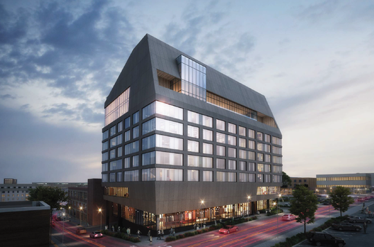 A 10-story hotel is planned for the lot occupied by Whiskey Kitchen in the Gulch.