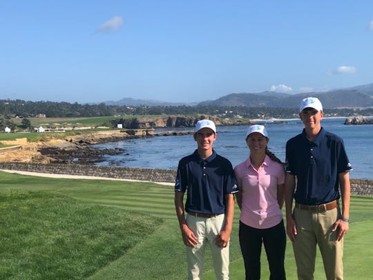 The First Tee of Naples/Collier's Robert Walner, Sophie Shrader, and Joey Burke competed in the PURE Insurance Championship at Pebble Beach on the PGA Tour Champions from Sept. 27-29, 2019.