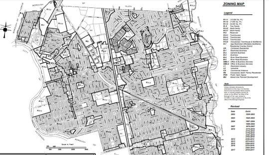 Fair Lawn zoning map