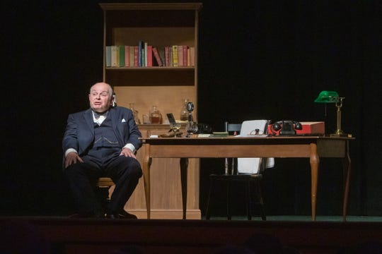 "Actor Andrew Edlin bristles at what he calls ""cartoonish"" interpretations of Winston Churchill, in which the legendary British leader is portrayed as a drunk."