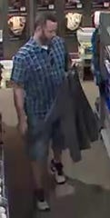 This man is a person of interest regarding a recent theft at DICK'S Sporting Goods in Livonia.