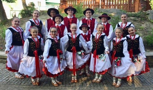 The Gwiazda Dancers will express Polish folk traditions through song and dance at the farmers market in downtown Farmington this Saturday.  The first of two performances will take place near the noon hour.