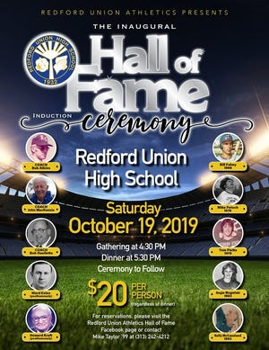 Redford Union will host its first ever Hall of Fame ceremony on October 19.