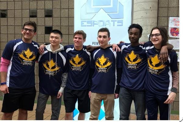 The Seaholm High School esports team, including (from left) Enrique Bruza, Kaijie Zhao, Chaz Strecker, Antonio Narra, Dilan Daniels and Ryan Stottlemyer, has been competing for the past four years and has found success.