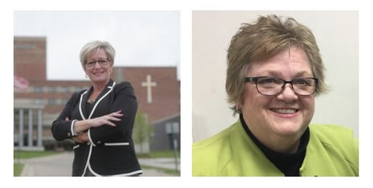 Maureen Miller Brosnan (left) and Laura Toy (right) are running to be Livonia's next mayor.