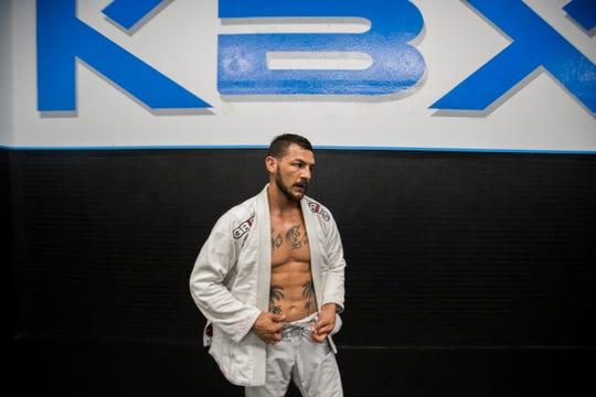 Cub Swanson is photographed in early September during a training session in the Coachella Valley.