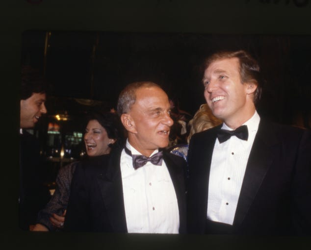 "Roy Cohn and Donald Trump are seen in ""Where's My Roy Cohn?"""