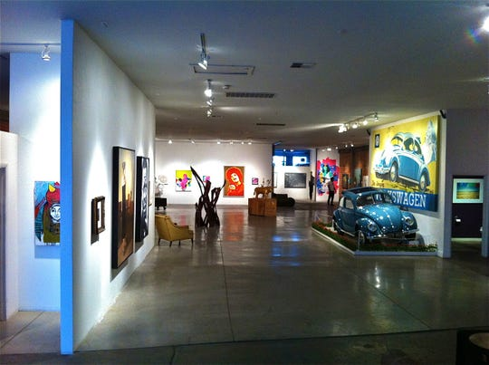 """Chaos Theory 13, in 2012, featured Randy Slack's installation """"mein Everest,"""" incorporating a restored 1951 Volkswagen Beetle."""
