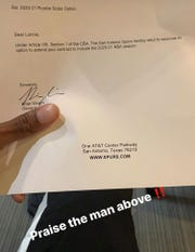 The San Antonio Spurs sent a letter to Walker saying they are extending his rookie contract
