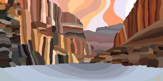 """""""Canyon National Park"""" by Topher Straus is a shiny sanitized version of a national monument."""
