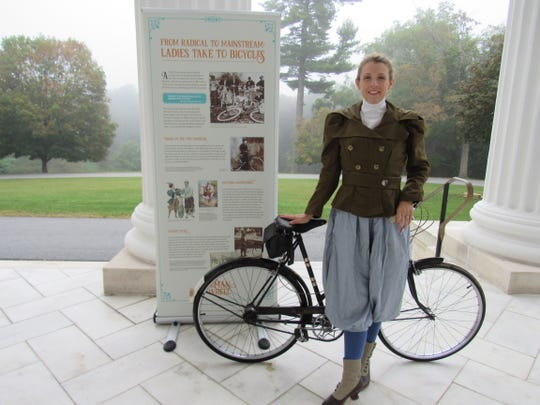"Historian Kjirsten Gustavson will present ""Women on a Wheel"" at Staatsburgh State Historic Site, Oct. 5."