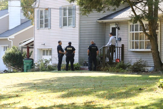 Police monitored the home of George Grogan on Shamrock Circle in Poughkeepise Tuesday afternoon.