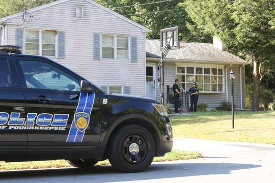 Police monitored the home of George Grogan on Shamrock Circle in Poughkeepise earlier this month.