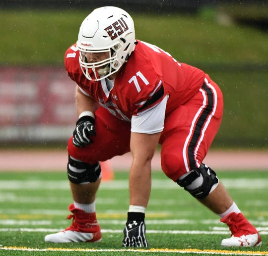Dover High School graduate Levi Murphy is a three-year starter on the offensive line for East Stroudsburg University.
