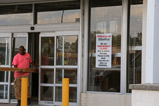 Richmond Mall's OfficeMax store remains closed for repairs on Tuesday, Oct. 1, 2019.
