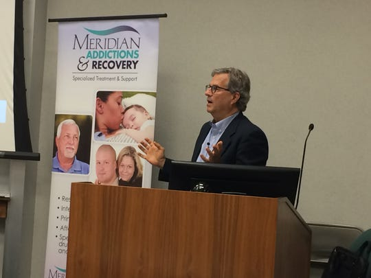 "Sam Quinones, a longtime journalist and author of the book ""Dreamland,"" speaks Tuesday at Ivy Tech Community College Richmond as part of Meridian Community Health's Speaker Series."