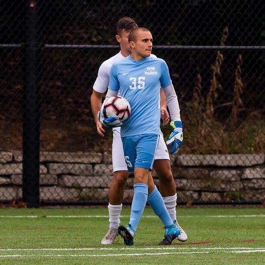 Men's Soccer: Willamette University plays Whitworth University in Salem, Oregon on September 22, 2019. Pictured: Mason Kelliher (Photo: Robert White)
