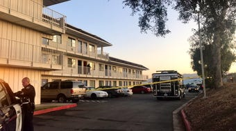 A person was shot at the Motel 6 on De La Torre Street Oct. 1, 2019.