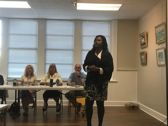 Ava Gabrielle-Wise speaks during the Eastern Shore Housing Summit in Onancock, Virginia on Friday, Sept. 27, 2019.