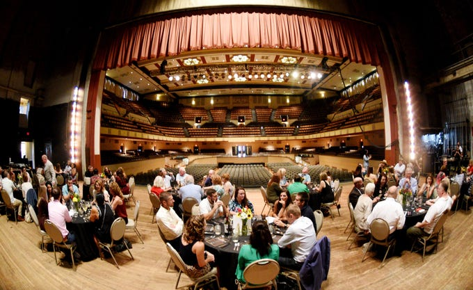 Chef Anthony and Amanda Felan's Second Act Supper Club had a dinner on the stage at the Shreveport Municipal Auditorium in September.