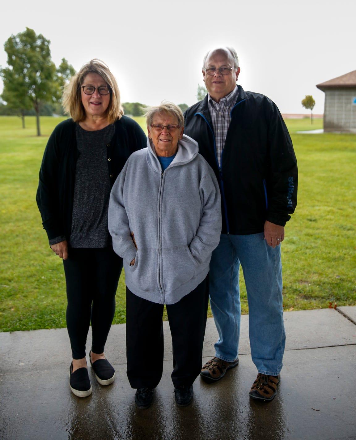 Julie Locke, Jo Pankonim and John Nordlie (seen here at Kenny Anderson Park) are board members of the Oak View Neighborhood Association.