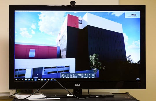 The Minnehaha County Jail is using virtual reality to give jail staff a tour of the still-incomplete renovations and additions on Tuesday, October 1, in Sioux Falls.