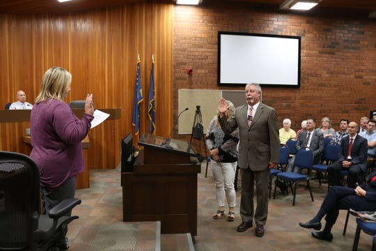 Bryan Smethurst is sworn in as a St. George City Council member on Sept. 30.