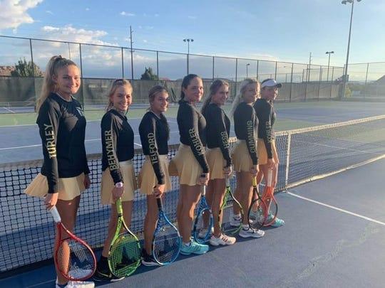 The 2019 Region 9 Champion Desert Hills girls' tennis team.